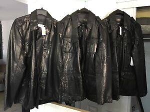 Men's Calvin Klein leather jackets, New with tags