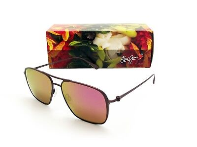NEW Maui Jim BEACHES Matte Brushed Burgundy & Maui Sunrise Polarized P541-07M