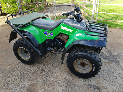 Kawasaki klf300 work horse 4x4 farm quad atv