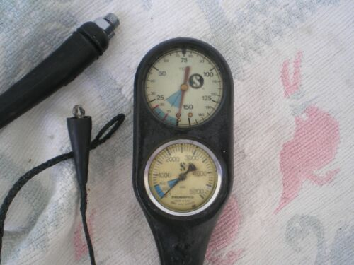 Scubapro compact Console ,SP Gauge Serviced, read all details  very nice