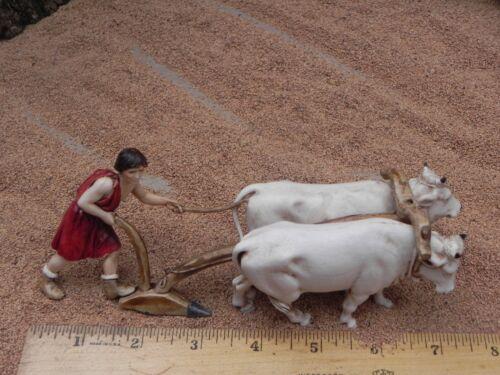 "Nativity Villager and Ox Figurine for 3.5"" Landi Presepio Figura para Pesebre"