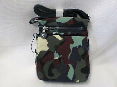 Kipling El Dorado Camo Printed Crossbody Bag Purse NWT