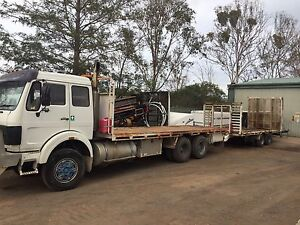 Flat deck truck and trailer Wallacia Liverpool Area Preview