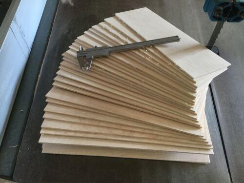 "46 pcs. 1/4"" x 3"" x  12""  maple thin boards hobby craft wood"