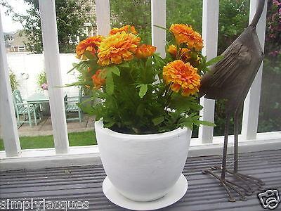 Orange Artificial Marigold Bush For Garden Patio Pots&Planters Silk Flowers Home ()