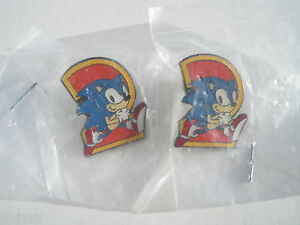 Sonic-the-Hedgehog-2-SEGA-Promo-NEW-Enamel-Metal-PIN-BADGE-Pins-RARE-Collectable