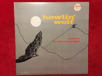 """HOWLIN' WOLF  """"MOANIN IN THE MOONLIGHT""""  LP  1986  CHESS  CH-9195  BLUES  US  NM"""