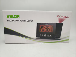 BALDR PROJECTION ALARM CLOCK BIG TIME DISPLAY 12/24 HR OPERATIONAL ALARM SNOOZE