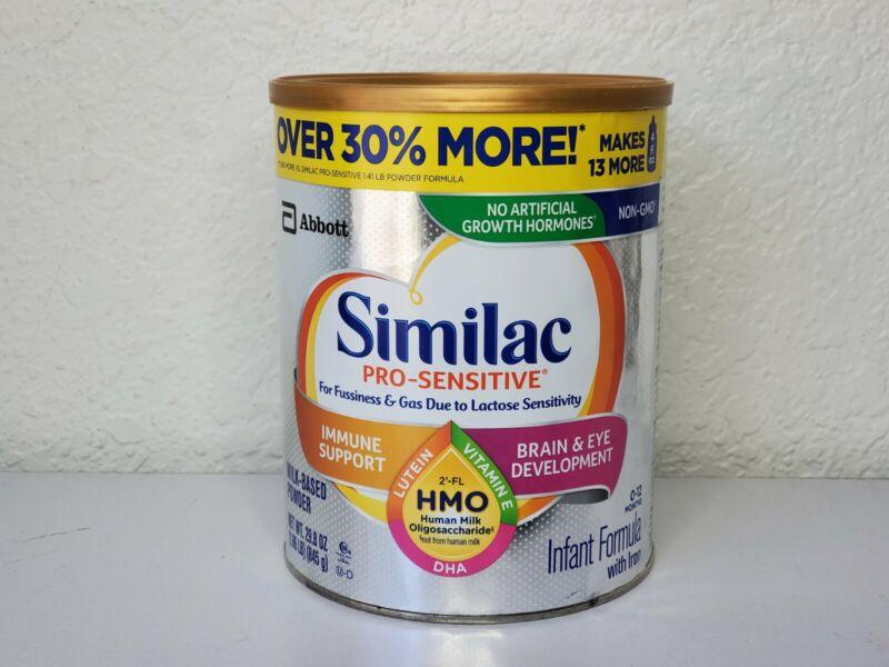 Similac Pro-sensitive Infant Formula 29.8 Ounce Exp 10/2021