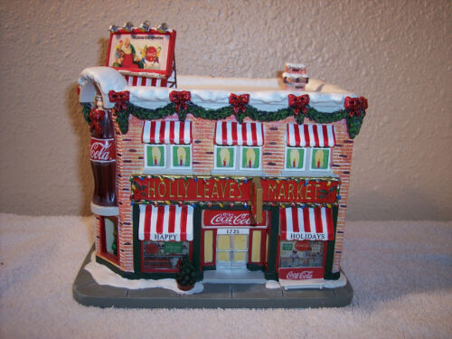 """Hawthorne Village Coca-Cola Holiday Village Collection """"Holly Leaves Market"""""""
