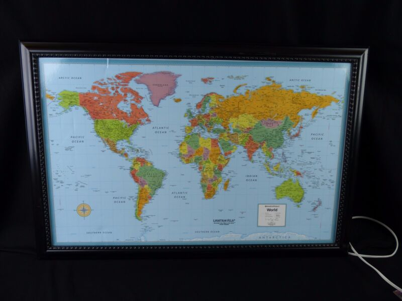 Rand McNally Light Travels Modern World Map
