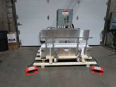 Settling Conveyor Stainless Steel 13 X 60 Portable With Vibrators