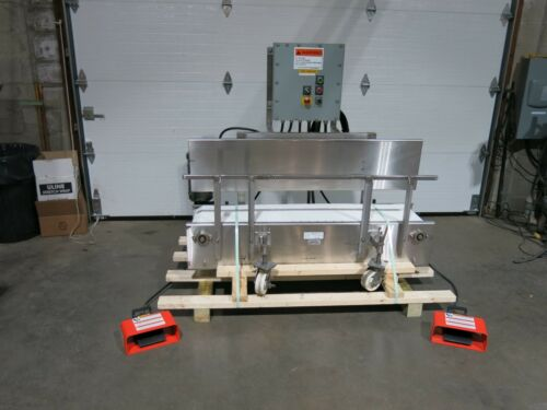 "Settling Conveyor Stainless Steel 13"" x 60"" Portable With Vibrators"