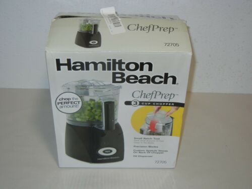 Hamilton Beach 72705 Ensemble 3-Cup Food Chopper Black