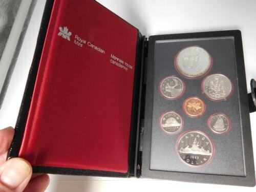1983 Royal Canadian Mint Proof Set With Box & COA