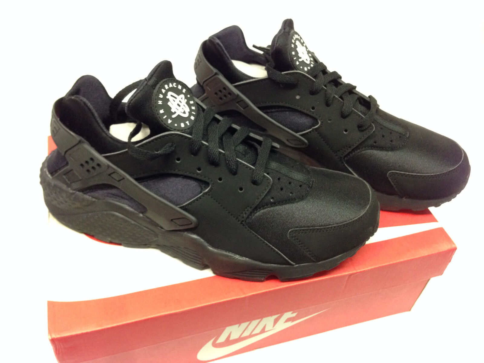 Nike - NEW Men's Nike Air Huarache Running Shoes 8-13 Size Black Black-White 318429-003