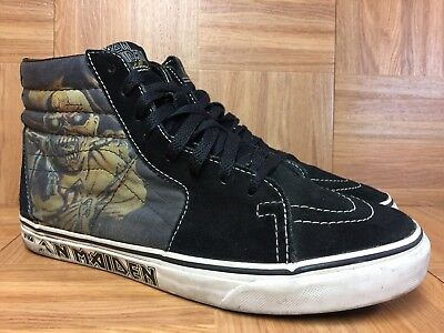 RARE🔥 VANS Sk8-Hi Iron Maiden Piece Of Mind Skateboardig Sz 9 Men's Shoes VNTG
