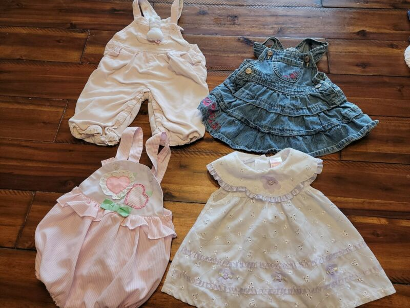 Vintage Baby Girl Lot 6-9 Months  Osh Kosh, Cuties By Judy, Kidgets, Baby Begin