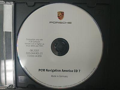 PORSCHE NAVIGATION CD #7 PART 000-044-901-21   T1000-14300 08/2007 #CD142