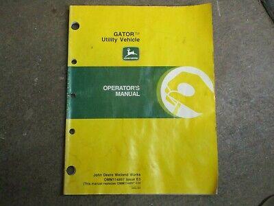John Deere 4x2 Gator Utv Owners Maintenance Manual