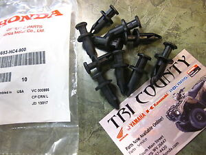 Genuine-Honda-Push-Pin-Clip-pack-of-10-Foreman-Rancher-TRX-300EX-400EX-Recon