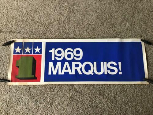 1969 Mercury  Marquis  original dealership window trim poster.