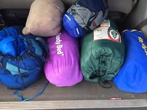 8 sleeping bags for $20