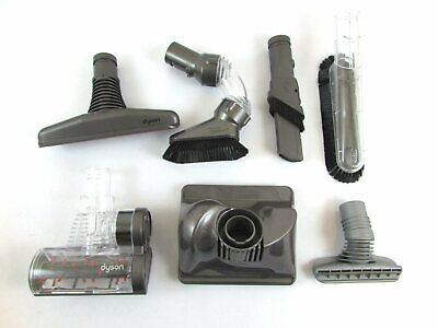 Dyson Vacuum Attachment Lot (7) Soft Duster Bare Floor Crevice Stair Tool Etc