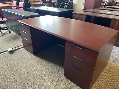 Executive Desk By Jofco Office Furniture In Cherry Color Wood