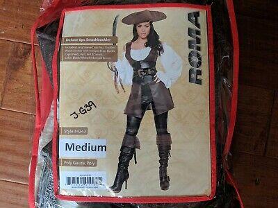 Roma Pirate Costume (Roma Women's Medium Pirate Swashbuckler Halloween)