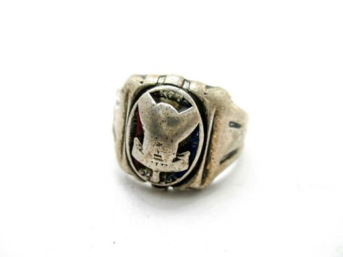 Vintage Boy Scouts Sterling Silver Eagle Scout Ring by Vargas Size 10