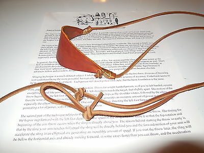 handmade primitive leather survival rock sling by  APE