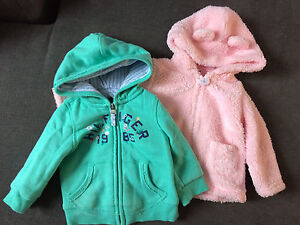 6-9 and 9 month girls sweaters
