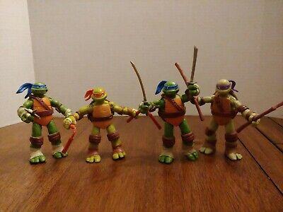 Leo Don Mikey TMNT Ninja Turtles Figures Lot 2012 x4