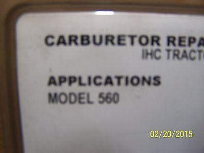 Internationalfarmall 560 Basic Carburator Kit