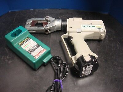 Greenlee Eccx Gator Pro 6 Ton Cordless Hydraulic Cutter Set Battery Charger