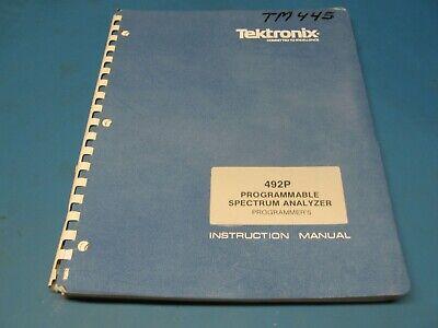 Tektronix 492p Programmable Spectrum Analyzer Programmers Manual