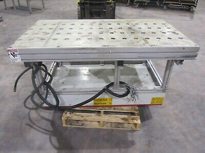 Altek Gravity Roller Ball Conveyor Transfer Table With Power Stop 59l X 33w