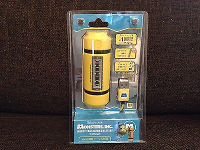 Disney Monsters Inc. Energy Tank Mobile Battery Charger 2900mAh JAPAN F/S