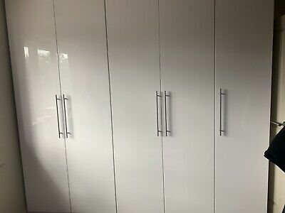 Ikea Pax White Gloss Wardrobe Door With Handles 50x229cm
