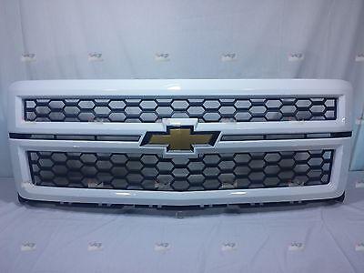 23235955 OEM GM WHITE Grille with Black Mesh fits 2014 2015 Silverado 1500 NIB