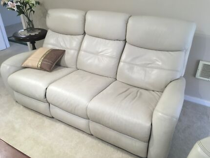 leather reclining action sofa