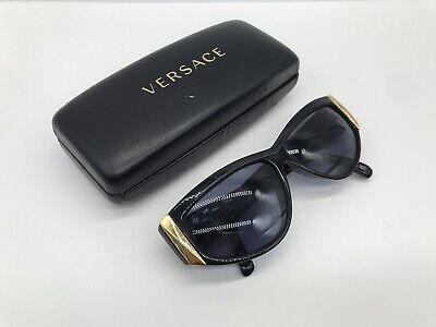 Retro Vintage Gianni Versace Mod 389 Black Designer Sunglasses W/case