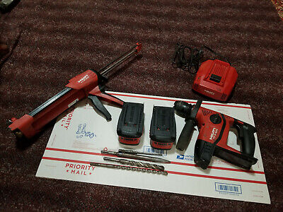 Hilti Te6-a 36v Lithium Ion Cordless Rotary Hammer Kit With Big Batteriesmore