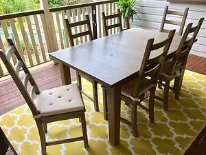 Indoor or Outdoor Extendable Dining Table and Chairs Annerley Brisbane South West Preview