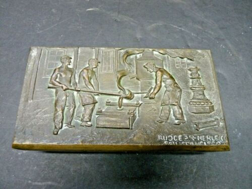 Vintage Ink Blotter Rudgear-Merle Co. San Francisco