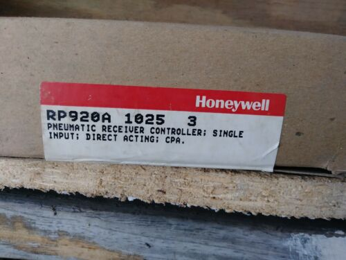 HONEYWELL PNEUMATIC RECEIVER CONTROLLER RP920A 1025 3 NEW