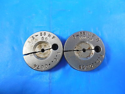 3 56 Nf 3 Thread Ring Gages 3 Go No Go Pds .0874 .0859 Inspection Tools