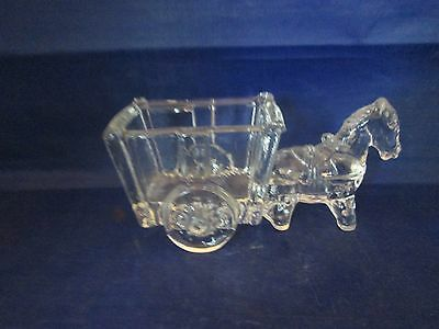 Clear Glass Horse Drawn Cart with scented air freshener