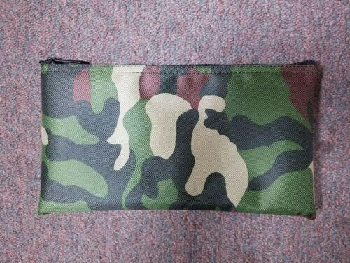 1 Brand New Camo Heavy Duty Nylon Bank Deposit Money Bag Tool Organizer